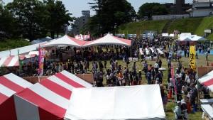 餃子祭り会場の様子