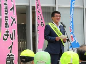 中川 清土浦市長からは飲酒運転根絶に対し年間を通しての活動に感謝のことば