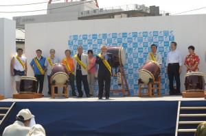 2014年8月3日茨城県 土浦キララ祭り 会長あいさつ
