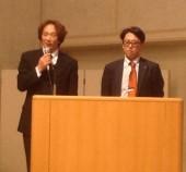 2015年2月11日宮崎県合同安全研修会 霜鳥理事(写真左)辻理事(写真右)