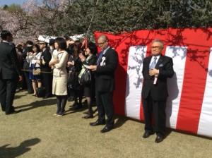 2014年4月12日「桜を見る会」丹澤会長