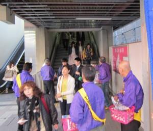 2014年4月10日 滋賀県支部 野洲駅前街頭活動-2