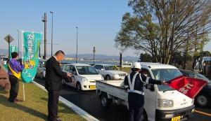 2014年4月11日 滋賀県支部 近江大橋西詰街頭活動-1