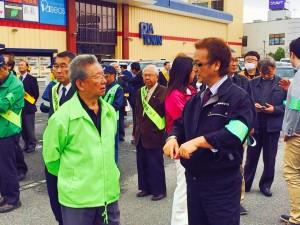 2014年4月4日「春の交通安全運動」中山支部長
