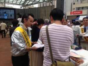 2014年5月25日栃木県街頭活動
