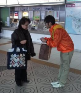 20131212奈良生駒駅街頭活動